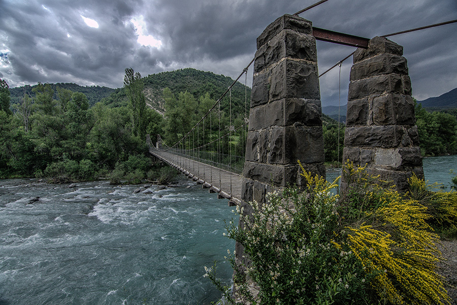 Puente colgante de Jánovas